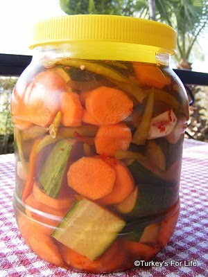 Turkish pickled vegetables turşu