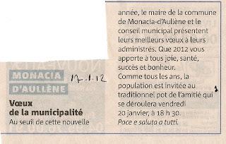 Voeux 2012 mairie Monacia