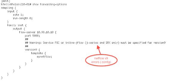 set forwarding-options sampling family inet output