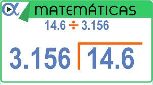 División con decimales 1ª parte