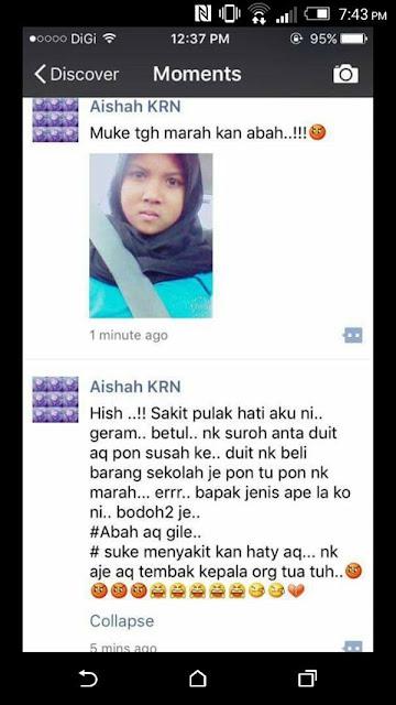 Hormatilah Ibu Bapa, Jangan Jadi Seperti Gadis Ini... KURANG AJAR!!