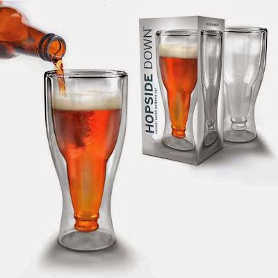 Vaso de Cerveza Botella Bocabajo