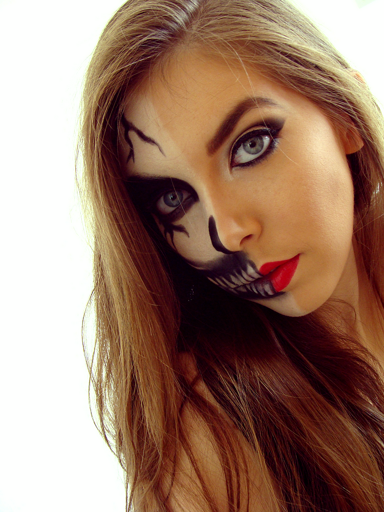 Smoothie Mango Tutoriel Maquillage Dhalloween 2014 Tête De Mort