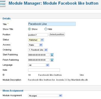 Membuat Facebook Like pada Joomla 2.5 | Artikel Gratis dan Aneka ...