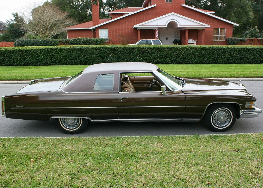 All american classic cars 1974 cadillac coupe de ville 2 door hardtop