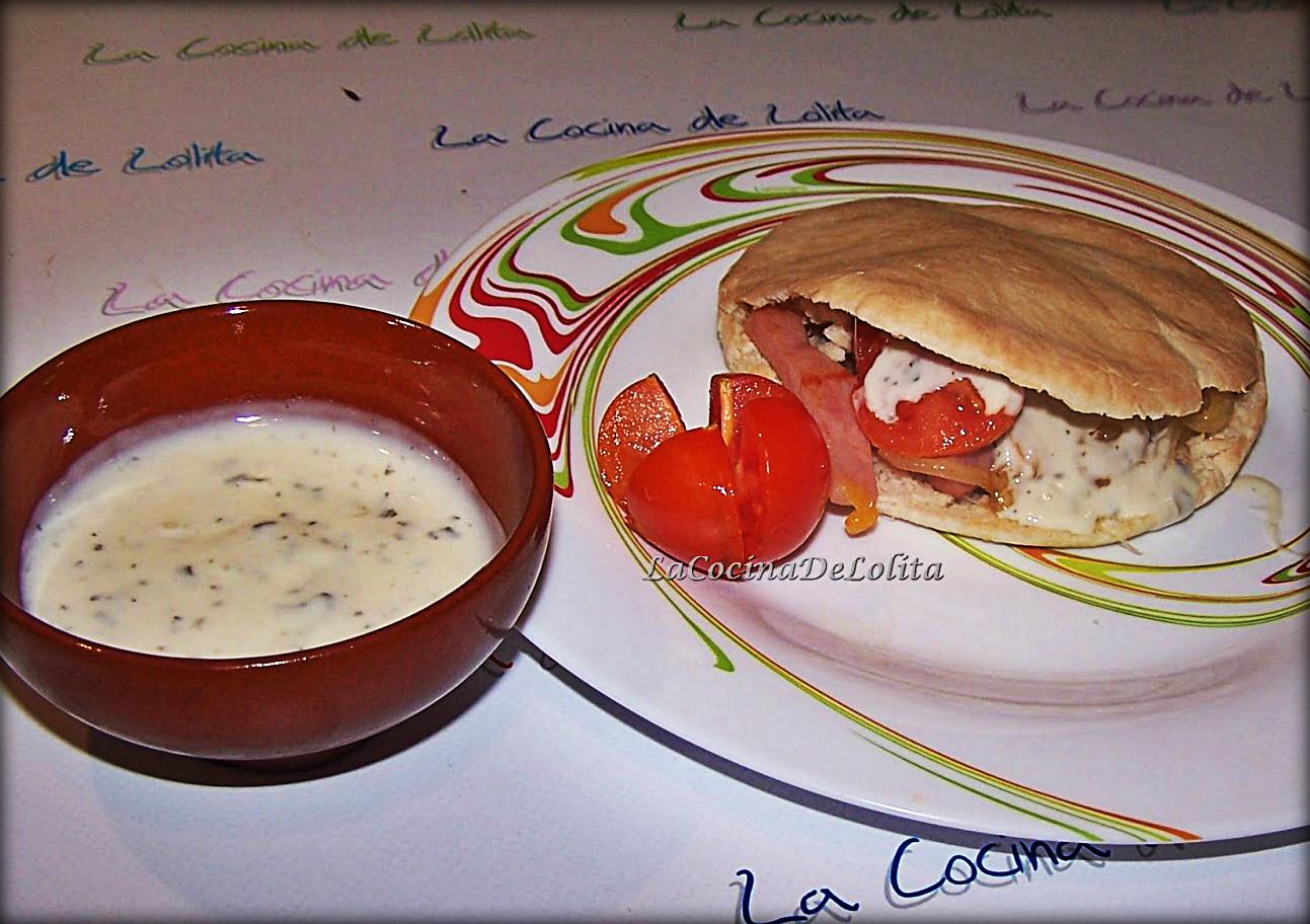 Pita de Jamón y Queso