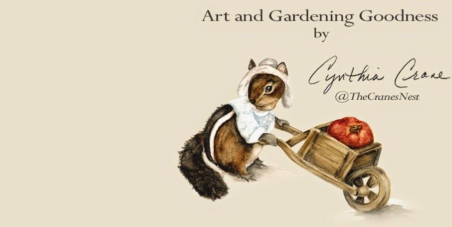 Cynthia Cranes Art and Gardening Goodness