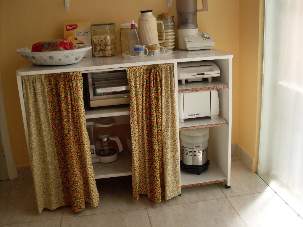 Armario De Cozinha Com Cortina Finest Ganchinhos Na Prateleira Ou