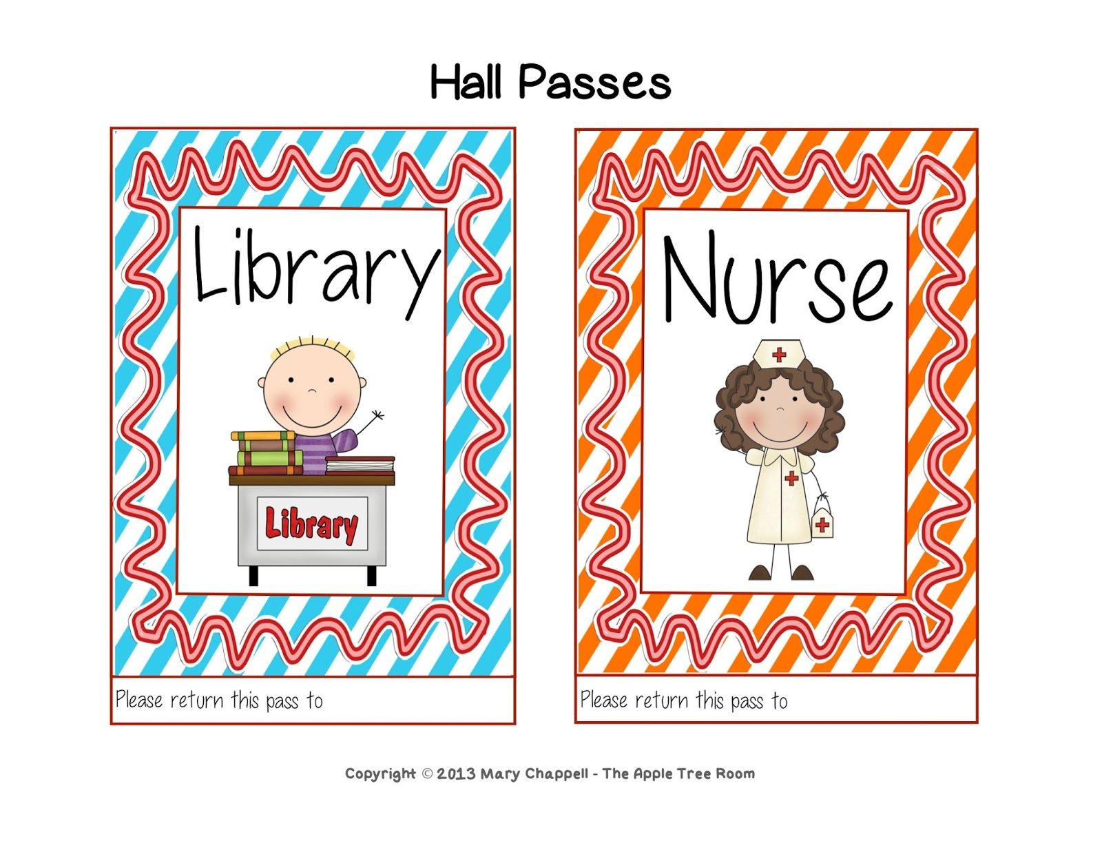 This is a picture of Persnickety Printable Hall Pass
