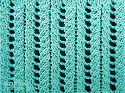 Rib Patterns Knitting : Lace Ribs Knitting Stitch Patterns