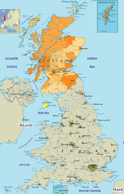 Scotland Map Region Area
