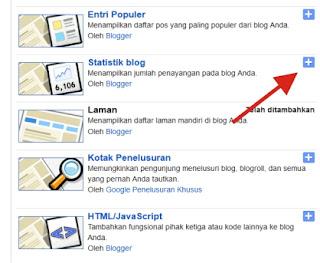 Langkah-langkah Memasang Widget Statistik Blog di Blogspot