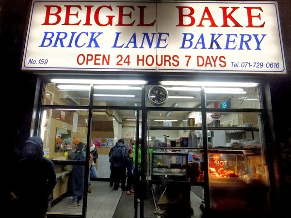 Londres London brick lane bagel east end