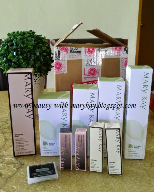 satu set botanical formula 2, lip balm , lip mask, 2 cream lipsticks, eye color , time wise body cellulite