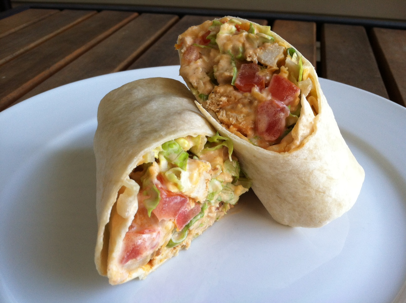 Taste of Home Cooking: Buffalo Chicken Wraps