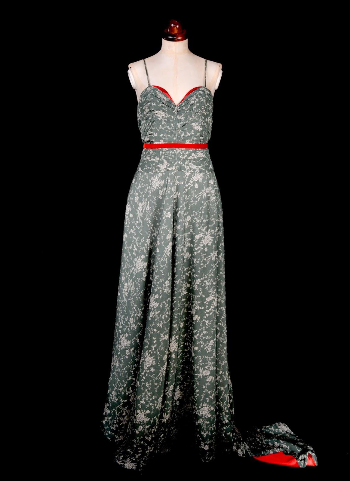 green vintage 1930s dress