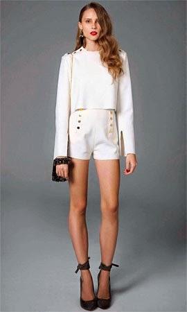 NK Store coleção inverno TalieNK 2014 conjunto de blusa e short crepe