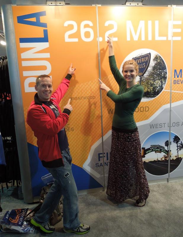 LA Marathon route wall fun