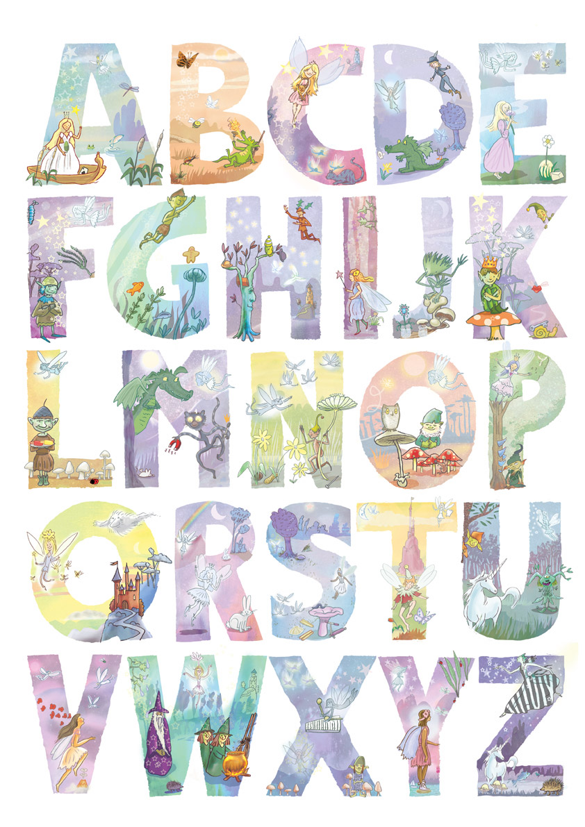Image gallery fairy alphabet for Fairy letters