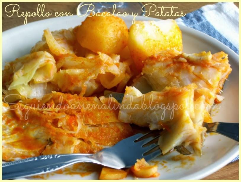 Siguiendo a nenalinda repollo con bacalao y patatas - Bacalao con garbanzos y patatas ...
