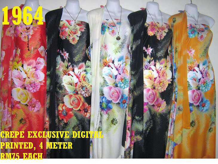 CDP 1964: CREPE EXCLUSIVE DIGITAL PRINTED, 4 METER, 5 COLORS