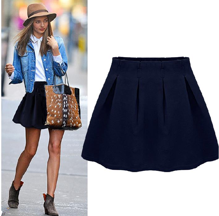 navy blue high waisted skirt redskirtz