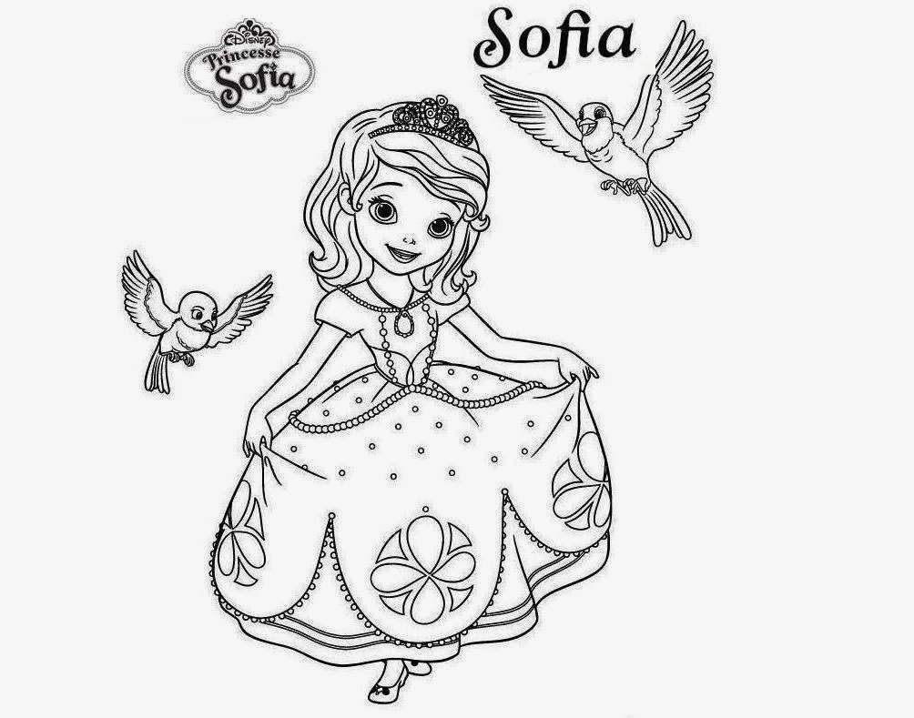 Princess sophia printable coloring pages - Sofia The First Printable Coloring Page Mermaids