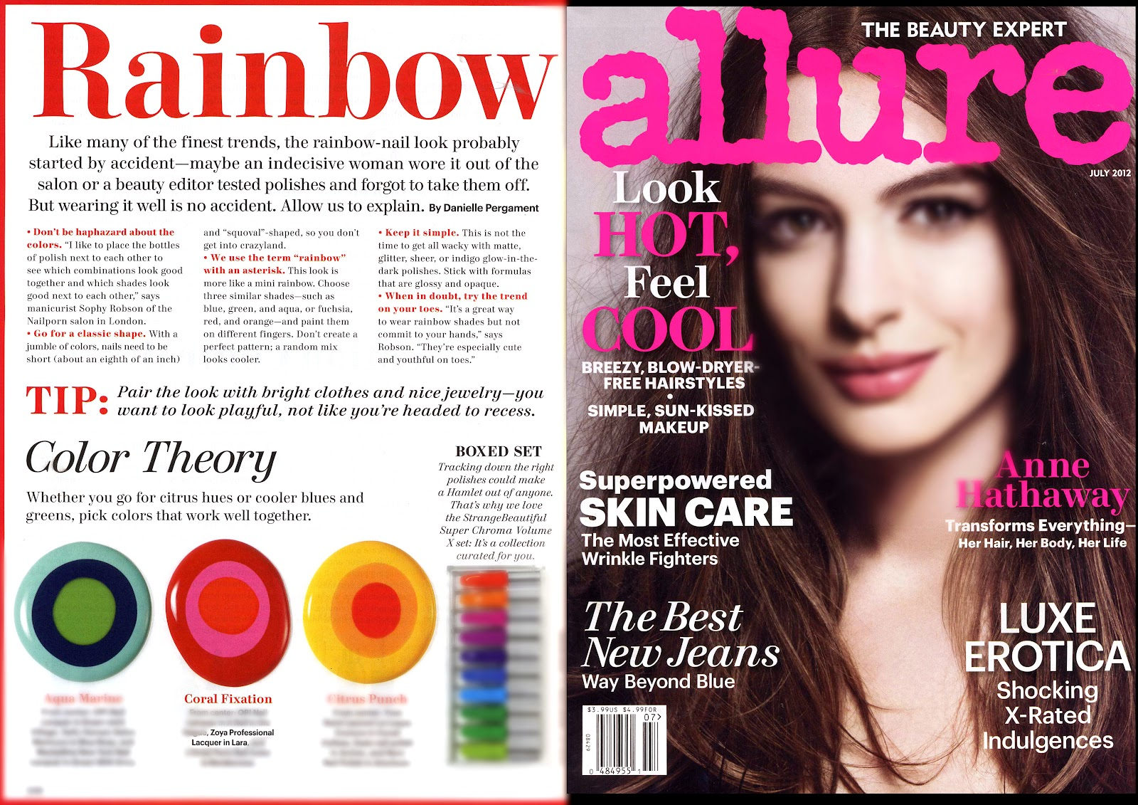 Allure Magazine Features Zoya Nail Polish in Lara! | Zoya Nail ...