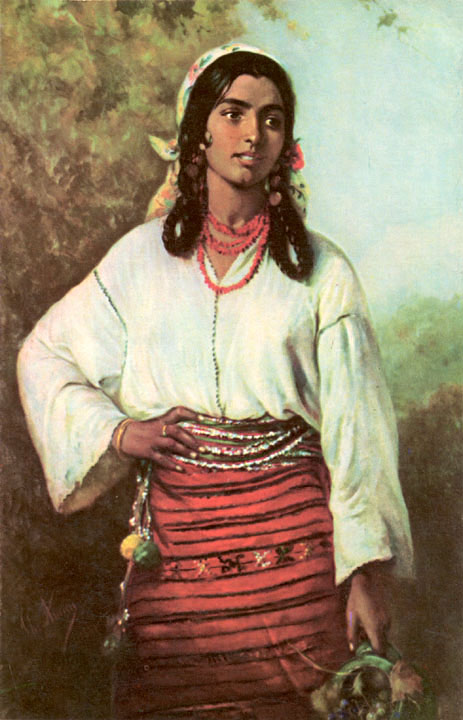 Gypsy Woman Painting Great Painters Art Gal...
