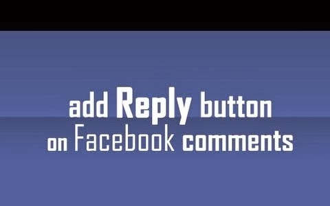 How to get reply option in comments on facebook profile