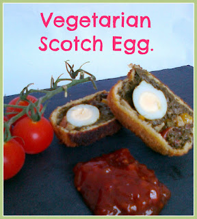 Vegetarian Scotch Egg with Spinach