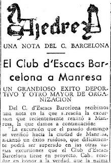 Festival ajedrecista en Manresa en 1933 (1)