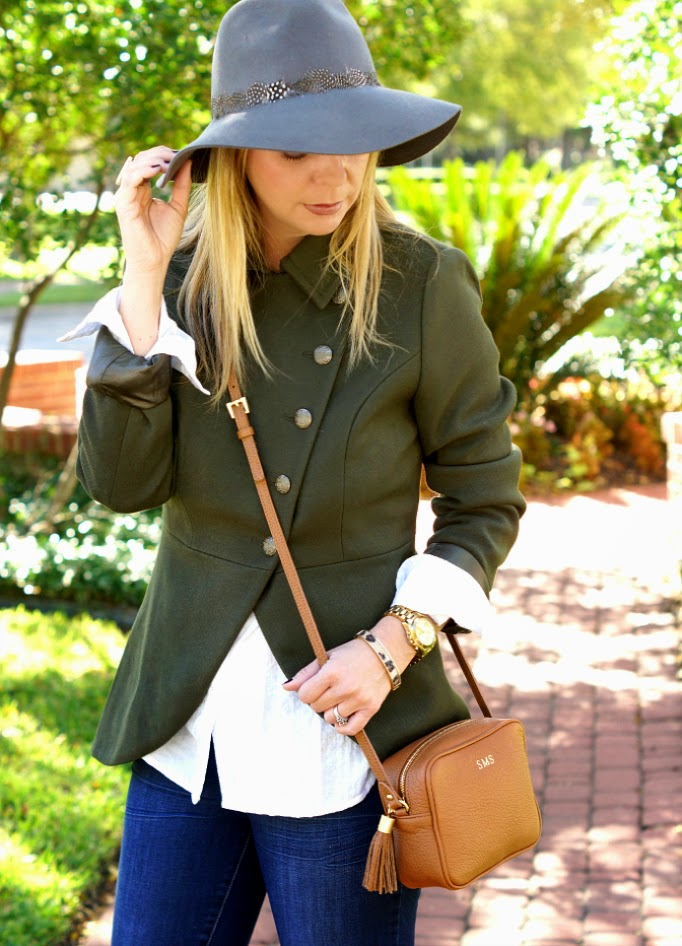 Button tulip miliatry jacket olive