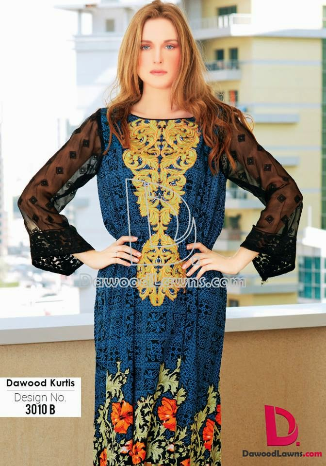 Latest lawn designs of kurtis 2015