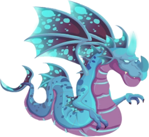 imagen del dragon luminiscente