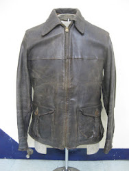 30's MID-WESTERN HORSE HIDE LEATHER JACKET
