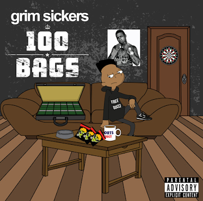 Grim Sickers - 100 Bags mixtape cover