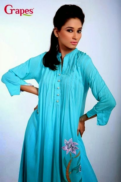 Grapes Ladies Embroidery Kurta Collection
