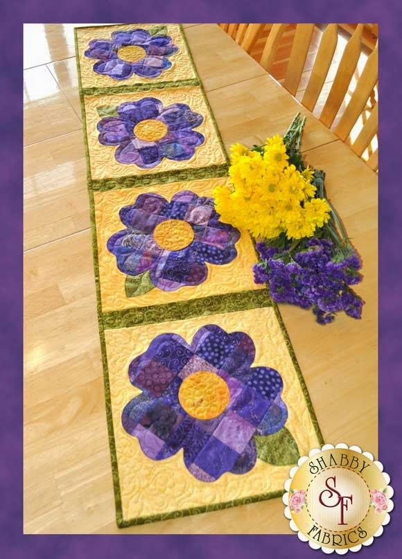 Patchwork Pansy   Shabby Fabrics Exclusive
