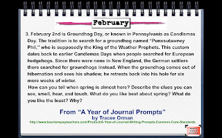 Groundhog Day Writing Prompt Feb. 2nd