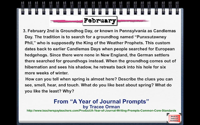Groundhog Day Writing Prompt www.traceeorman.com