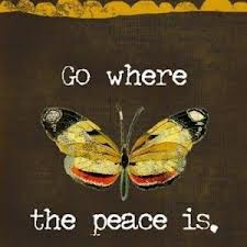 Go where the peace is - butterfly