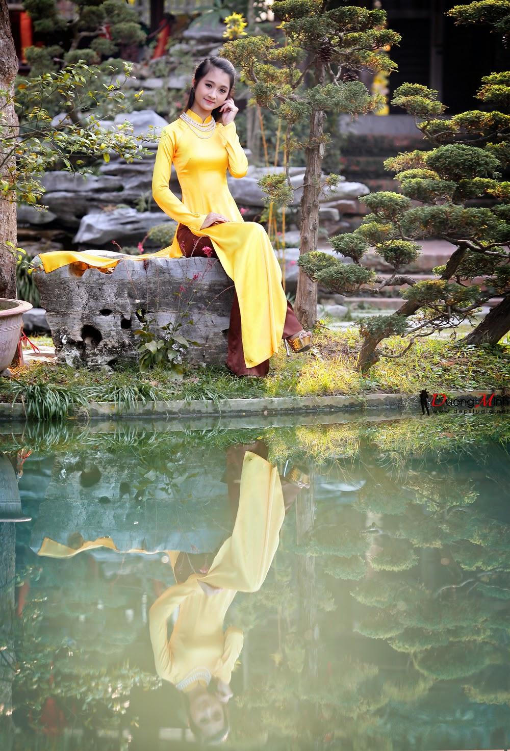 Ảnh đẹp girl xinh Áo dài truyền thống Việt Nam - Ảnh 25