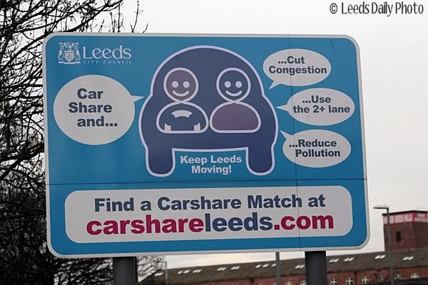 Car Share Sign Leeds