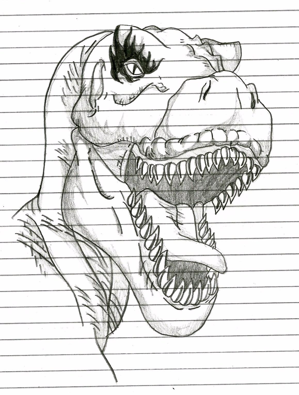 desenhos caio tiranossauro rex