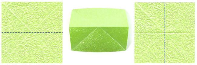 cara Membuat origami square base