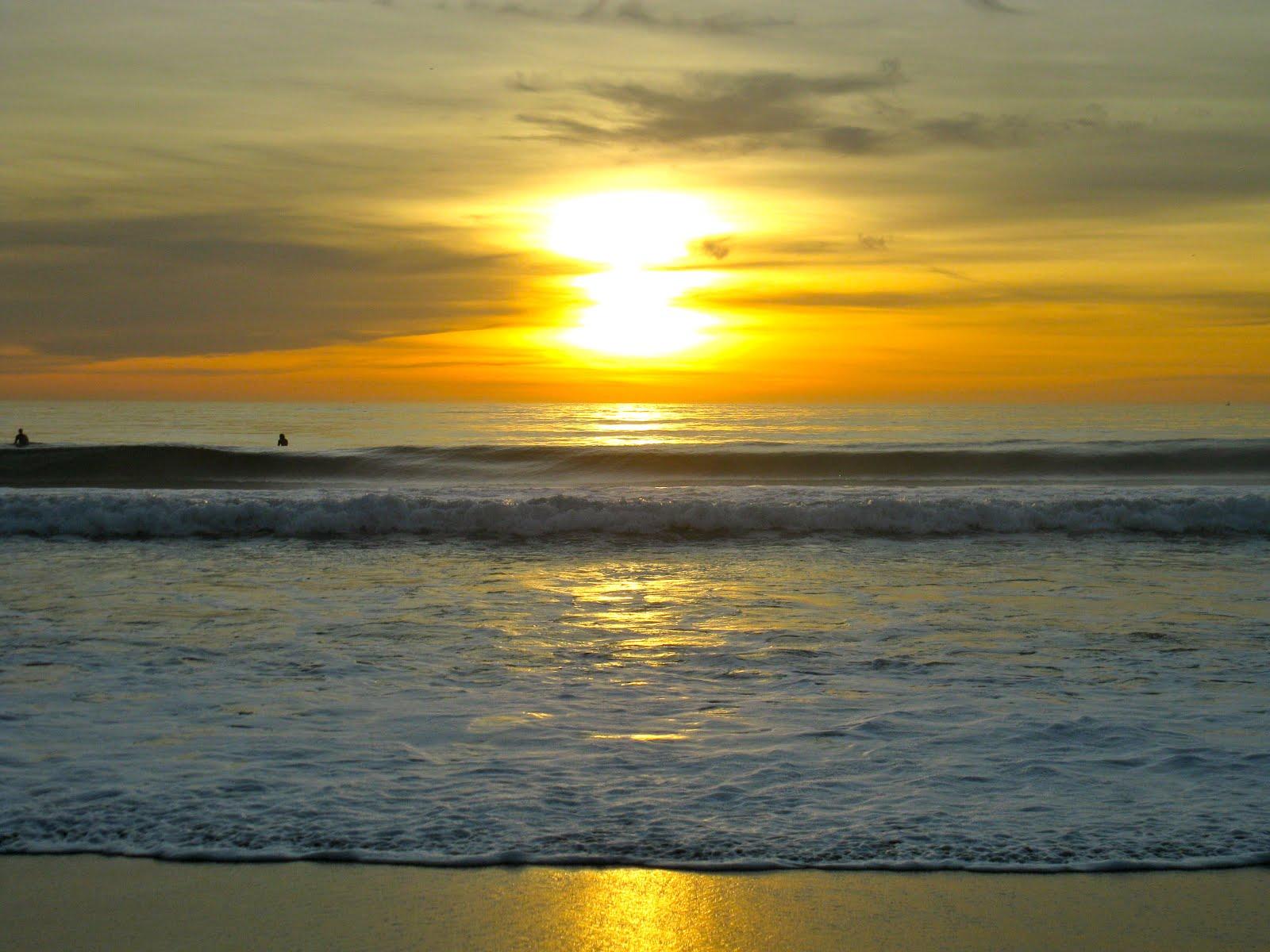SUNSET OVER STA MONICA BAY