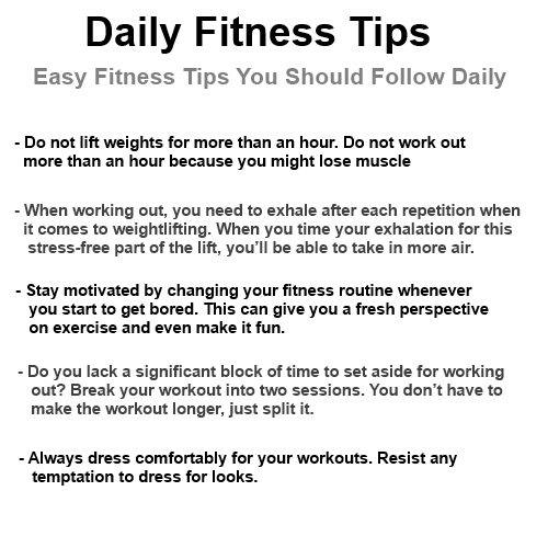 daily fitness tips easy fitness tips for your health 1topbest