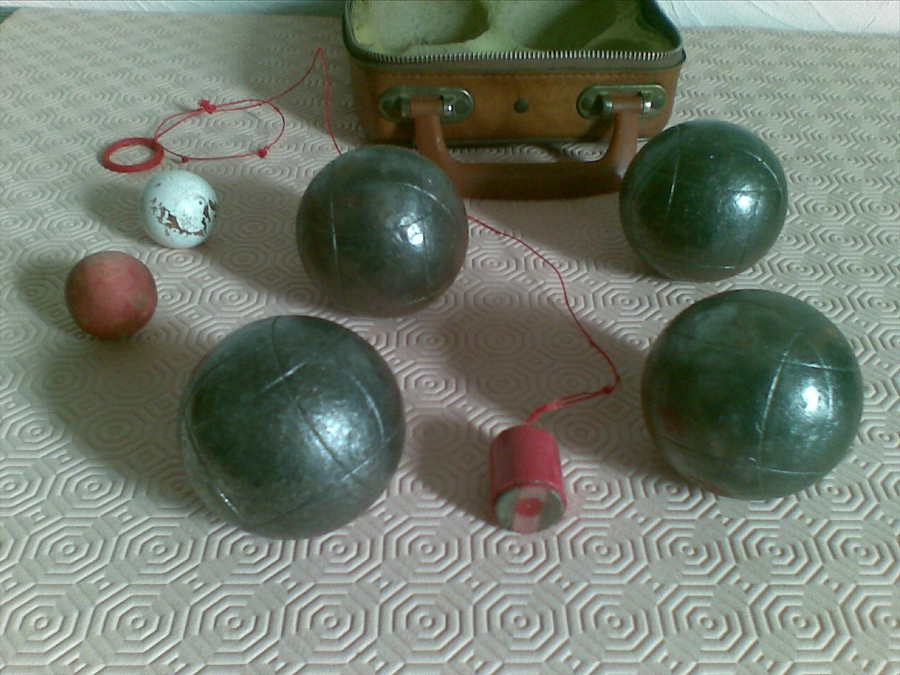 4 boules de petanque la m ridionale 1978 camping jeu ebay. Black Bedroom Furniture Sets. Home Design Ideas