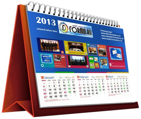 Download Kalender Meja 2013 FORMULASI Corel Draw